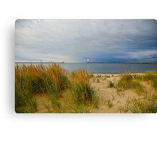 The quiet beach Canvas Print