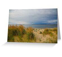 The quiet beach Greeting Card