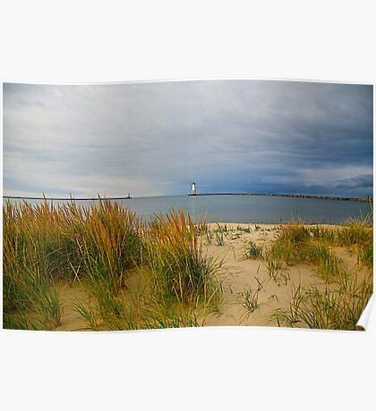 The quiet beach Poster