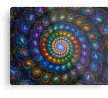 Spiral Shell Beads Metal Print
