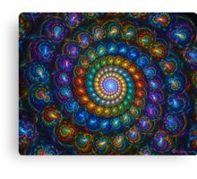 Spiral Shell Beads Canvas Print