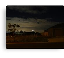 Quiet Suburb at Night Canvas Print