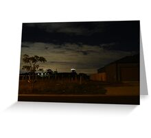 Quiet Suburb at Night Greeting Card