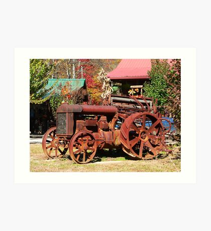 """Rusty Old Tractor"" Art Print"