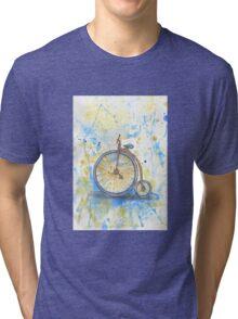 Antique high wheel bike Tri-blend T-Shirt
