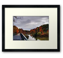 Dark clouds over the Green Ribbon Trail Framed Print