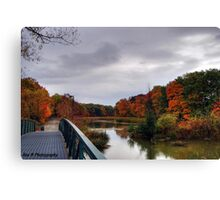 Dark clouds over the Green Ribbon Trail Canvas Print