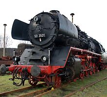 A steam locomotive of the German national railway. The class 50 by trainmaniac