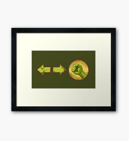 rolling attack - Blanka Framed Print