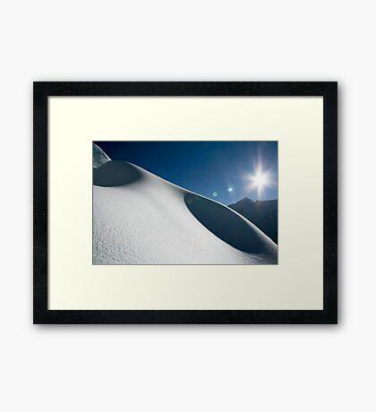 Snow Dunes Framed Print