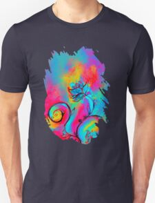 PINK FUCHSIA BLUE YELLOW WHIMSICAL FLOWERS T-Shirt