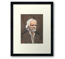 Homeless Man Framed Print