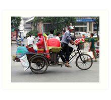 Pedaller or Peddler, Yangzhou, China Art Print