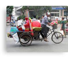Pedaller or Peddler, Yangzhou, China Metal Print