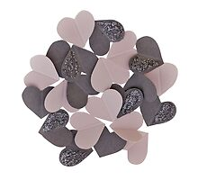 Paper hearts by tills