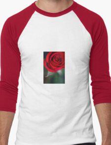 Red Rose Men's Baseball ¾ T-Shirt