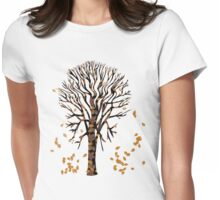 Tree in Autumn Tshirt Womens Fitted T-Shirt