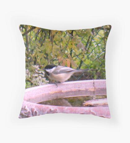 Sparrow Bath Throw Pillow