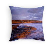 Robin Hoods Bay at dawn Throw Pillow