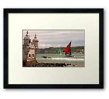 the last race in Lisbon Framed Print