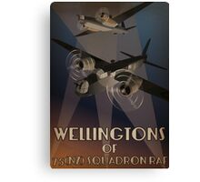 Wellingtons of 75NZ Squadron RAF (period illustration) Canvas Print