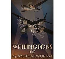 Wellingtons of 75NZ Squadron RAF (period illustration) Photographic Print