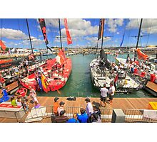 Volvo Ocean Race at the docks Photographic Print