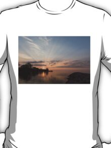 Heavenly Sunrays - Pink Sunshine Through the Clouds T-Shirt