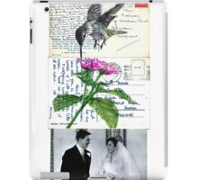 Sad veiled bride please be happy iPad Case/Skin