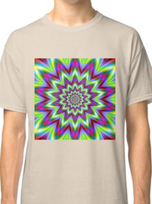 Psychedelic Star Flower Classic T-Shirt