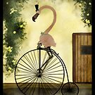 Penny Farthing Flamingo by unihorse