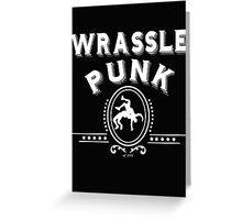 ole timey wrasslin  Greeting Card