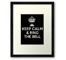 Keep calm and ring the bell - T-shirts and Hoddies Framed Print
