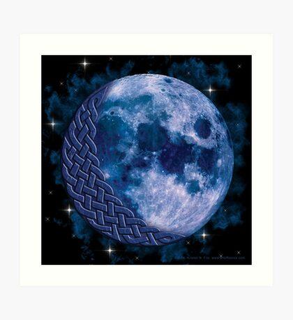 Celtic Blue Moon Art Print