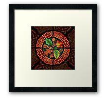 Celtic Autumn Leaves Framed Print