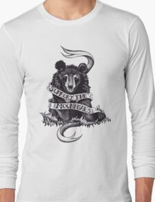 Support the Moonbears t-shirt Long Sleeve T-Shirt