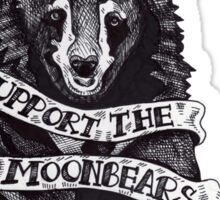Support the Moonbears t-shirt Sticker