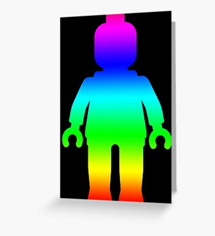 Minifig [Large Rainbow 1]  Greeting Card