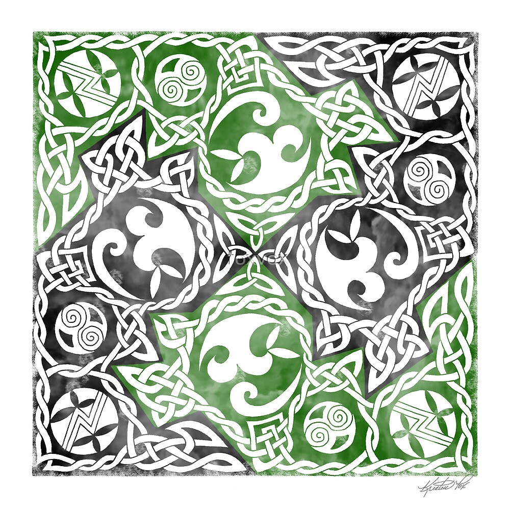 Celtic Puzzle Square by foxvox