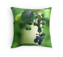 Wild Grapes Throw Pillow