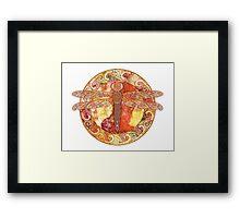 Hot Celtic Dragonfly Framed Print