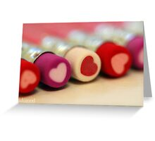 heart pencils Greeting Card
