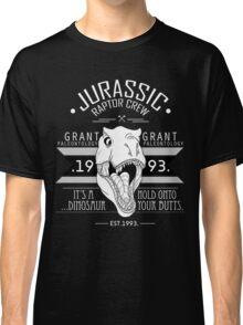 Jurassic Raptor Crew .White Version. Classic T-Shirt