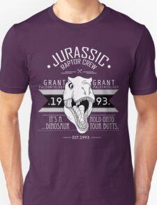 Jurassic Raptor Crew .White Version. T-Shirt