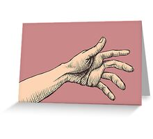 The Jealous Hand Greeting Card