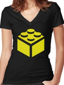 2 X 2 BRICK Women's Fitted V-Neck T-Shirt