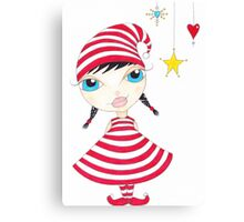 Candy Cane Elf Canvas Print