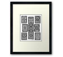 Celtic Tarot Spread Framed Print