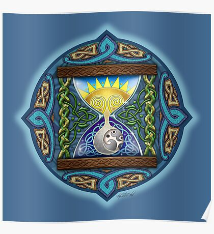 Celtic Hourglass Poster