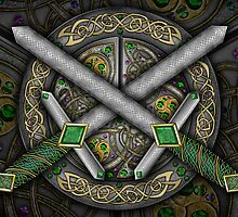 Crossed Celtic Daggers by foxvox